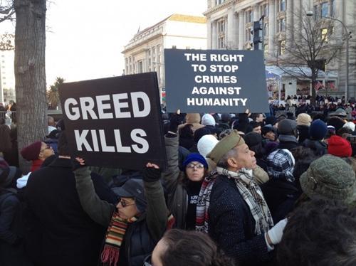 شورش علیه طمع در آمریکا در جریان اعتراضات سال ۲۰۱۱
