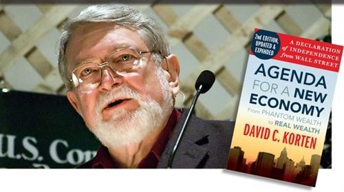 کورتن در کتاب خود سعی در بیان این مطلب دارد که افزایش رفاه، بالا بودن امید به زندگی و خوشبختی،    به رشد اقتصادی و مصرف بیشتر از منابع طبیعی و مصنوعات بشری ارتباطی ندارد