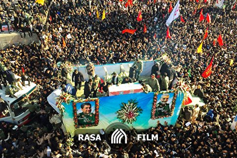 تصاویر هوایی دیدنی از تشییع حاج قاسم سلیمانی در کرمان